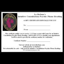 La Befana's Gift Certificate